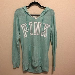 BABY BLUE & green // PINK sweater